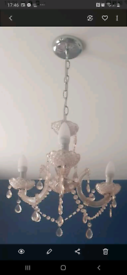 Baby pink chandelier