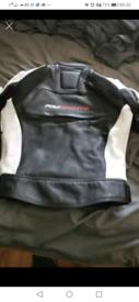 Woman's leather motorbike jacket