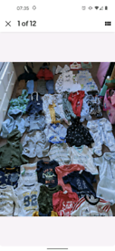 Baby Boy Clothes Bundle Size 6-9/9-12mths. 49 items