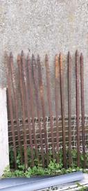 Victorian/Edwardian wrought iron railing inserts