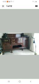Ebonised Antique Sideboard