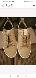 ECCO 530944 Kyle Mens Leather Tie Up Sneaker Sz UK 10