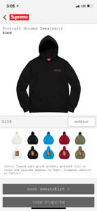 Supreme Potrait Hooded Sweat Shirt