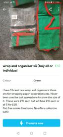 Wrap and organiser x3