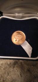 2002 GOLDEN JUBILEE GOLD HALF SOVEREIGN