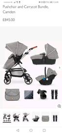 Silver Cross Wayfarer 7 Piece Pushchair and Carrycot Bundle, Camden
