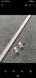 2.5 metre long white metal curtain track runner