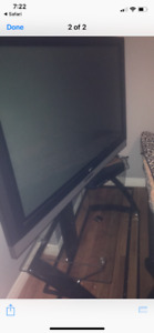 "52"" LG tv + Glass tv stand"