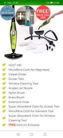 H20 HD 5-in-1 steam cleaner