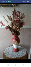 Tall Vase with flower Display