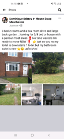 3 bed house exchange to south Manchester