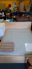 Used kingsize IKEA bed frame and mattress