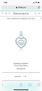 Tiffany heart pendant white gold with diamonds