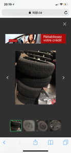 Wheels - Honda Civic used 14inches tires 185/65R4