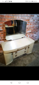 Lime washed vintage retro dressing table