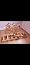 Three Foldable Wooden Wine Racks