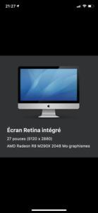 Imac 27 5K 2014 3.5 hgz I5 32 gig de RAM 1.12 TB fusion (ssd+dd)