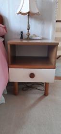 2 vintage bedside cabinets