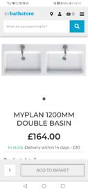 Double bathroom sink Bargin £80