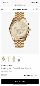 Michael Kors watch, Gold, brand new, with package and tags