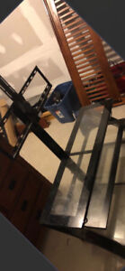 3 Tier Glass tv stand / mount ... sale or trade