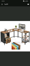 Corner desk, brand new with defect