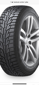 Hankook l-pike 195/65R15 Winter Tires USED AVEC JANTES