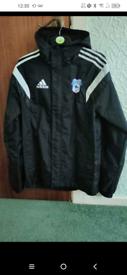 Cardiff city raincoat Xs size