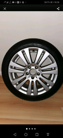 Mercedes alloy 17 inch + good tyre