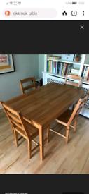 FREE IKEA 4 seater pine table