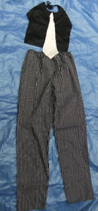 Mobster Gangster pants and top with tie insert costume