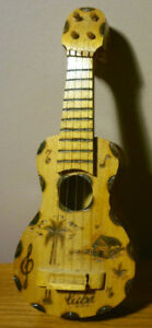 Miniature wood etched Ukulele