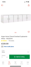 Cheval Overbed cupboards £95. Real Bargains Clearance Outlet Leiceste