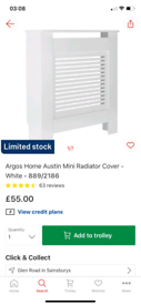 Austin Mini Radiator Cover £40. Other sizes enquire prices. RBWLeicest