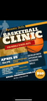 BASKETBALL CLINIC FOR MIDDLE SCHOOL BOYS