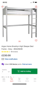 Grey High Sleeper Bed Frame £140. Real Bargains Clearance Outlet Leice