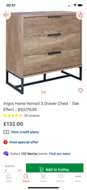 Elegant 3 Drawer Storage Chest £80. Real Bargains Clearance Outlet Lei