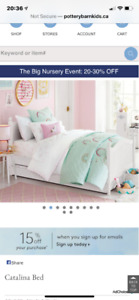Pottery Barn Kids Catalina single/twin bed! Mint condition!
