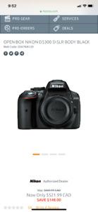 Nikon D5300 + 35mm 1.8 + 85mm 1.8 $700