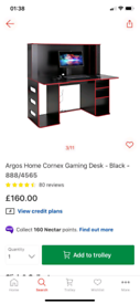 Cornex Black Gaming Desk £95. Real Bargains Clearance Outlet Leicester