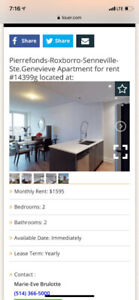Looking for 5 1/2 apartment or townhouse house in pierrefonds