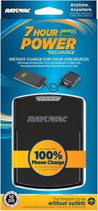Rayovac 7-Hour Power Recharge USB Backup Charger with Micro USB