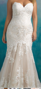 Wedding Dress - Fit and Flare, Champagne color