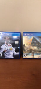 Ps4 Fifa 18 and Assassin Creed Origins