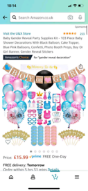 Gender reveal party pack minus balloons