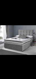 Divan SALE IS NOW ON Bed Sets with Ortho Memory Mattress and Headboard