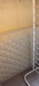 Twin Bed Frame and Mattress - gently used