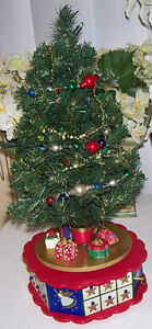 Avon Lighted Musical Advent Calendar Tree plus Ornaments