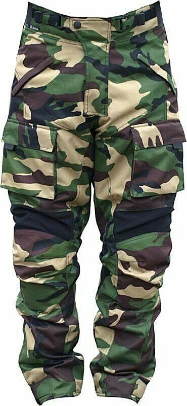 Motorrad Hose Textil Camouflage Wald Grün | Jonez Moto Cylewear | Be a Rebel