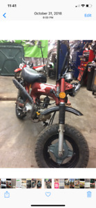 Honda ct70 with a 1973 xl70 motor with a 88 big bore kit 4 speed